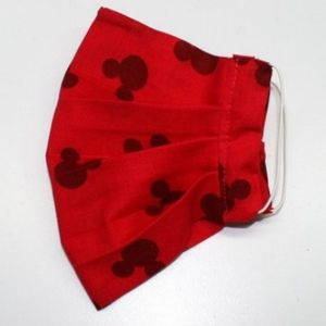 HAND CRAFTED Kids Mickey Mouse Face Mask Pocket